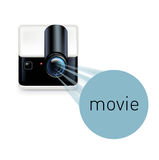 Projector and movie sign  on white Royalty Free Stock Photos