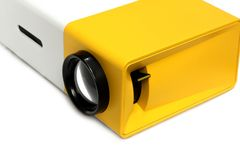 Projector multimedia. On white background stock photo