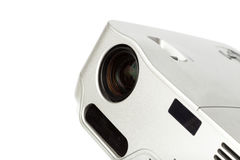 Projector multimedia. Silver colour on white background stock image