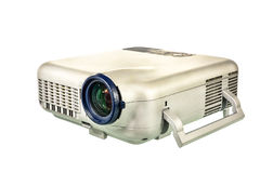 Projector multimedia on white background Royalty Free Stock Photography