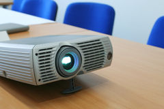 Projector at office table (horizontal). Projector at office table. Close view. #2 Royalty Free Stock Photo