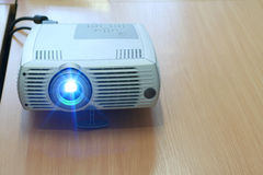 Projector at office table (horizontal) Royalty Free Stock Images