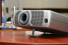 Projector at office table (horizontal). Projector at office table. Close view. #8 Stock Images