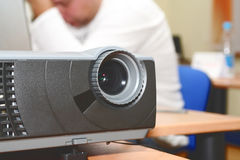 Projector at office table (horizontal) Stock Photo