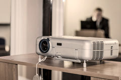 Projector on office table. Ready for presentation stock photography