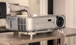 Projector on office table. Ready for presentation royalty free stock images
