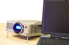 Projector op de lijst Royalty-vrije Stock Afbeelding