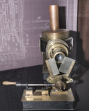 Projector. Paris,France- May 06,2017: Projector `Biophantic Lantern`; England; 1881,in the Museum of Cinema Royalty Free Stock Photography