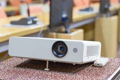 Projector for presentations in a meeting room. Business Concept Stock Image
