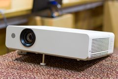 Projector for presentations in a meeting room. Business Concept Stock Images