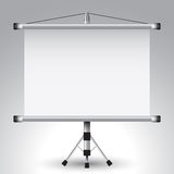 Projector roller screen Stock Photo