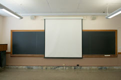 Projector Screen Stock Image