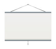 Projector Screen Royalty Free Stock Photo