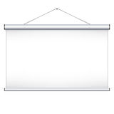 Projector screen. Can be used for your business presentations. School. Vector illustration Stock Image
