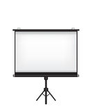Projector screen illustration Stock Photography