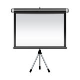 Projector screen isolated on white Stock Photo