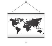 Projector screen map Royalty Free Stock Images