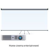 Projector and screen Royalty Free Stock Photo