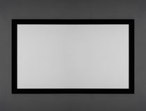 Projector screen white. Constant tension stock photography
