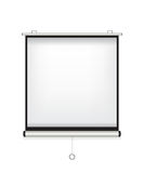 Projector screen white illustration Stock Photography