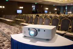 Projector in seminar room Stock Image
