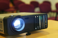Projector on table Royalty Free Stock Images