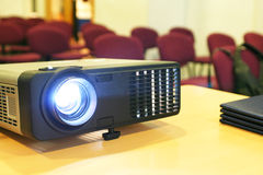 Projector on table. With chairs behind (horizontal) #3 Royalty Free Stock Photo
