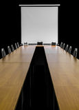 Projector table chairs Royalty Free Stock Photo