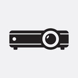 Projector. Vector icon isolated on grey background royalty free illustration