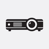 Projector. Vector icon isolated on grey background stock illustration