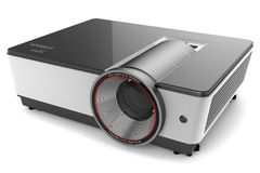 Projector for video FULL HD,3d. Projector  on white background 3d Stock Images