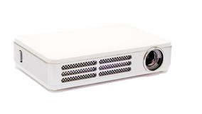 Projector on the white background. Isolated pico projector on the white background stock photo