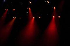 Projectores do teatro no estágio imagens de stock