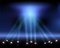 Projectores no céu. Imagem de Stock