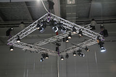 Projectors on a stage Royalty Free Stock Image