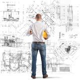 Projects of a building Royalty Free Stock Photo
