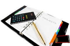 Projects diary Stock Photography