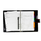 Projects diary book. On white background Royalty Free Stock Photos