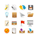 Projects and documents icons Royalty Free Stock Photos