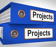 Projects Folders Mean Tasks Planning And Ventures. Projects Folders Meaning Tasks Planning And Ventures Stock Images