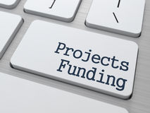 Projects Funding Button on Computer Keyboard. Stock Photos