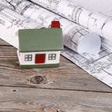 Projects of houses Royalty Free Stock Images