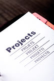 Projects organizer Stock Images