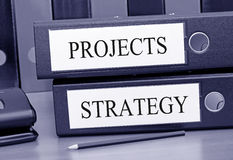 Projects and strategy binders Royalty Free Stock Photography