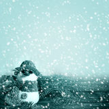 Projectsspa de gel de neige de bonhomme de neige d'hiver de graphiques de fond d'hiver Photos libres de droits