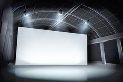 Projekcyjny ekran w galerii również zwrócić corel ilustracji wektora ilustracja wektor