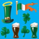 Projektów elementy dla St. Patricks dnia Zdjęcie Stock