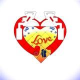 Projektów elementy dla walentynki s dnia wektor Czerwony serce ikona Rama ilustracja Abstrakci stylowy toaletowy serce Toaleta bo Obrazy Royalty Free