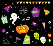 projektów elementy Halloween ja ikony Fotografia Royalty Free