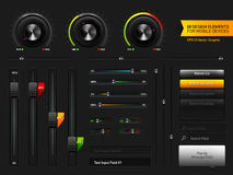 projektów elementy interface użytkownika royalty ilustracja